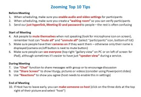 Zooming Top 10 Tips